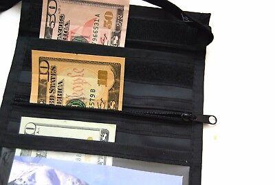sunwallet Brustbeutel Umhängetasche Brusttasche Geldbörse schwarz beige blau