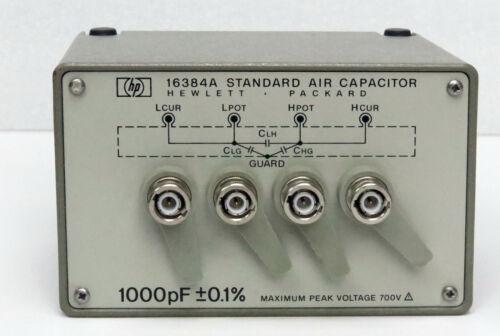 HP Keysight 16384A 1000pF Standard Air Capacitor