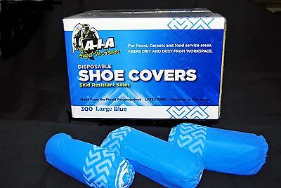 300 Non Skid Disposable Shoe Covers Clean Room Large Uni Mens Size 10