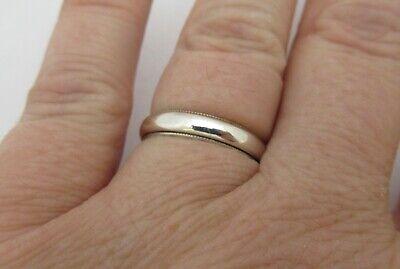 925 Sterling Silver Milgrain Detail Wedding Band Ring Classic Sz 6.5 (Classic Milgrain Wedding Band)