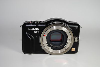 Panasonic Lumix Dmc Gf3 12 1 Mp Digital Camera   Black  Body Only