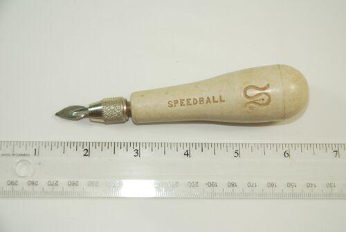 Vintage Speedball Linoleum Cutter -  1 Blade - Plastic Handle