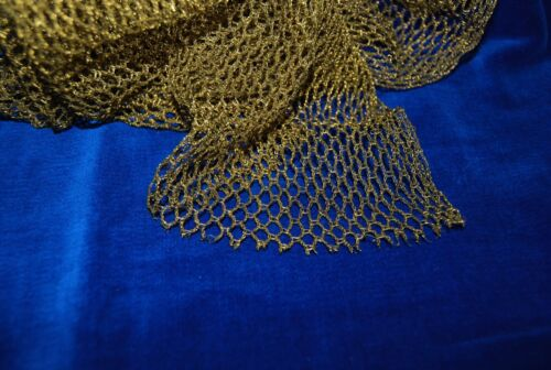 ANTIQUE FRENCH HEAVY GOLD MESH, NET