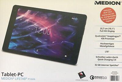 "MEDION P10606 MD 60526 Tablet PC 25,7 cm 10,1"" Full HD Qualcomm Snapdragon LTE"