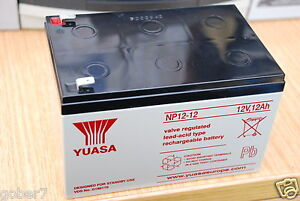 Yuasa NP12-12 12V 12AH Rechargeable Sealed Lead Acid Battery