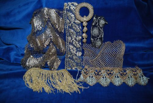 ANTIQUE FRENCH SILVER,  LACE LOT
