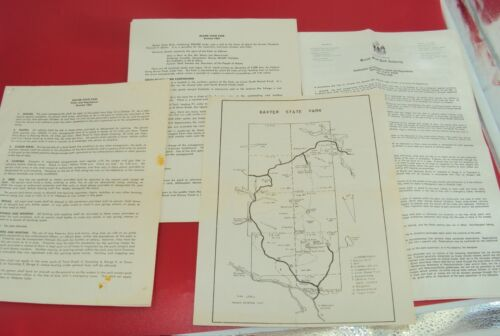 VINTAGE - BAXTER STATE PARK - RULES & REGULATIONS & CAMPGROUND INFO 1967 MAINE