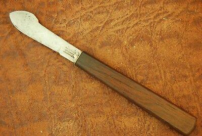 VINTAGE UTICA CUTLERY CO UTICA NY USA WOOD SCALPEL FIXED BLADE INK KNIFE (3257)