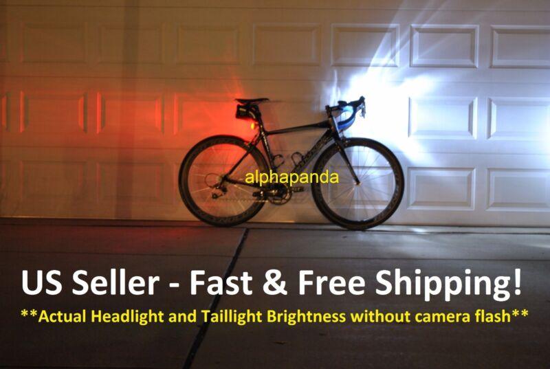 Bike Cycling Front/Head+Tail/Rear LED Light Lamp Set Warning Flashing