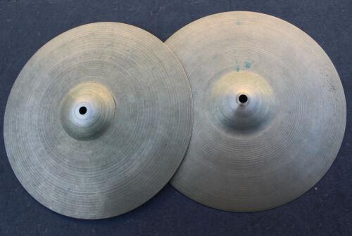 "Vintage Zildjian 1960s Short Ink Stamp Hi-Hat Drum Cymbals Percussion 13"" Hihat"