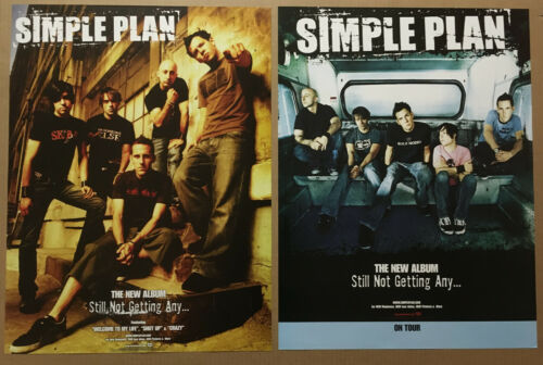 SIMPLE PLAN Rare 2004 DOUBLE SIDED TOUR PROMO POSTER For Still CD NEVER DISPLAYD