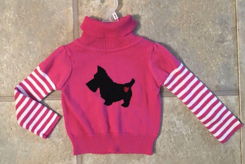 Cherrokee Girl's Size 12 Months Bright Pink Sweater With Scottie Dog