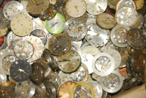 Lot of 14 random MEN WATCHES with Dials Vintage Movements Steampunk Art / parts