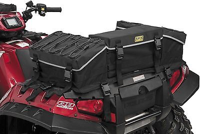 Atv Rack Bag - Quadboss ATV Reflective Rear Rack Bag Storage Soft Luggage Black
