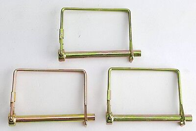 3 PACK LOT 14 TRAILER COUPLER SAFETY SNAP LOCKING PIN SQUARE TOWING HITCH