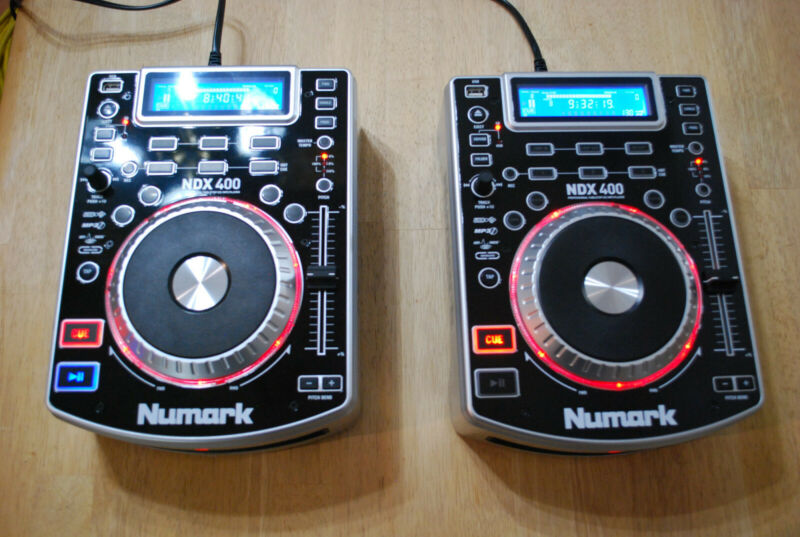 1 Pair Numark NDX400 Professional DJ Touch-sensitive MP3/CD/USB Players