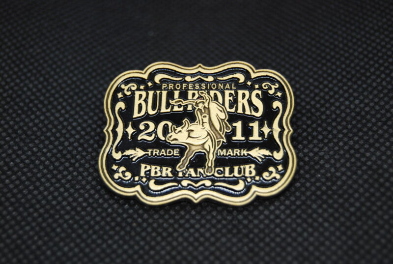 PBR Professional Bull Riders 2011 Rodeo Cowboy Western Hat Lapel Pin Fan Club