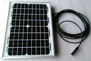 Mobility Scooter Solar Panel Battery Charger 10w 10 watt 24v 24 volt +2.5m lead