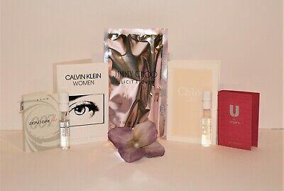 Lot of 5 Women's Perfume Samples: Calvin Klein, Jimmy Choo, Chloe & more