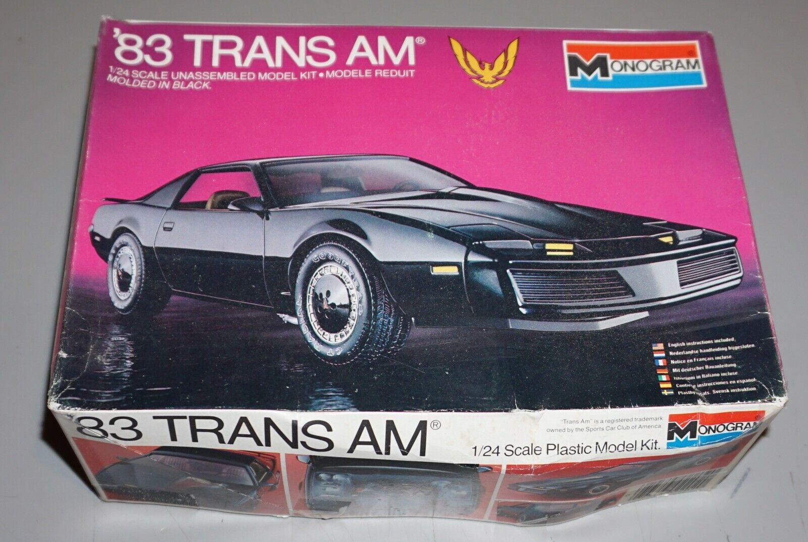 83 Pontiac Trans AM Monogram 1/24 Complete Unstarted. - $49.99