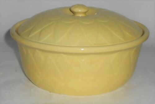 Coors Pottery Coorado Yellow Straight Casserole w/Lid