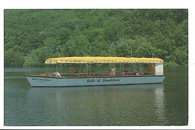 Vintage Postcard Belle of Brattleboro Vermont VT Riverboat Cruises Conn River