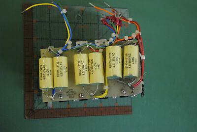 Capacitor Bank 6 X 4uf 150vac 10 10 X 1000uf 50v High Temp Rare Gov Lab Surplus