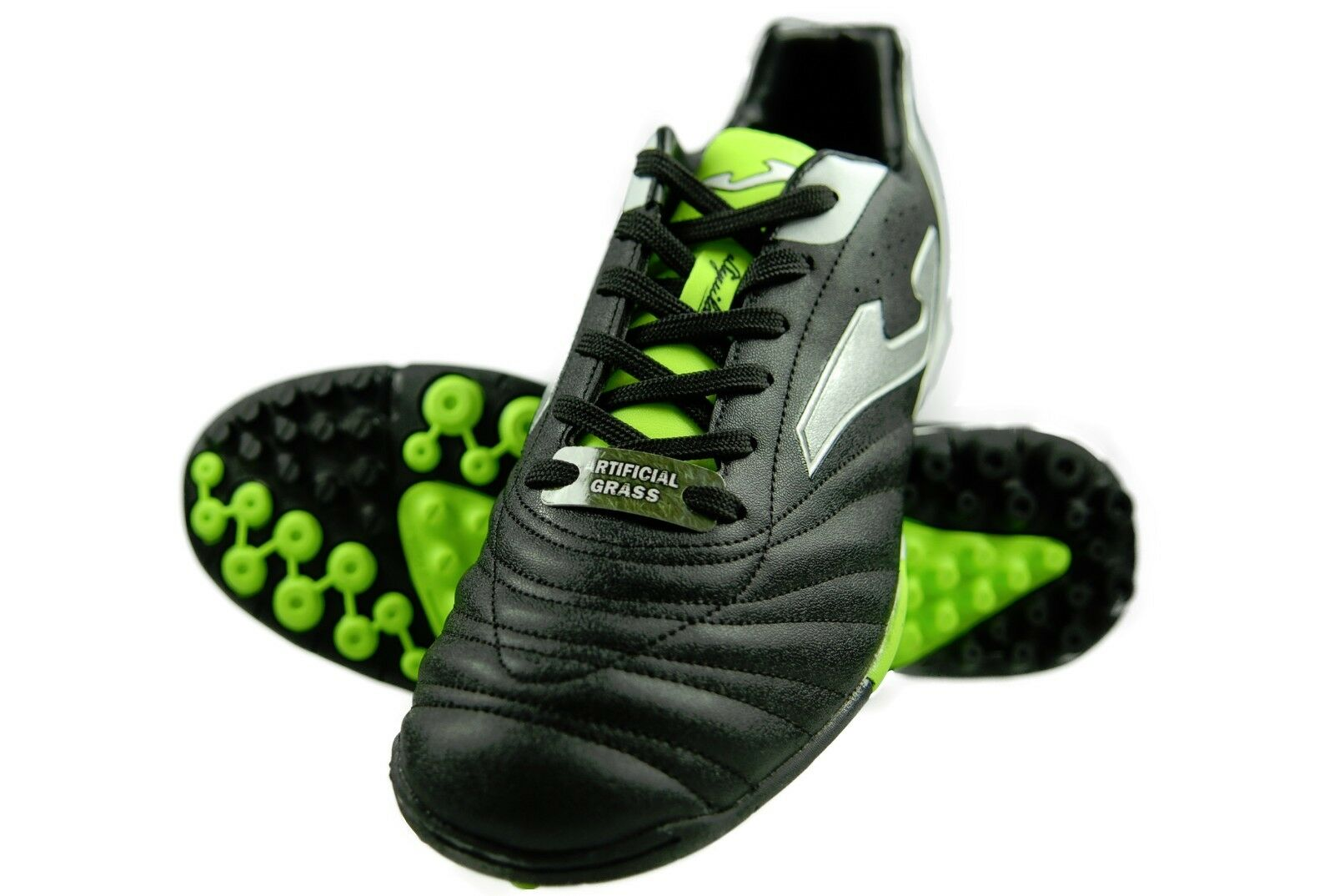 Authentic Joma Turf Soccer Shoes Aguila 601 Color Black