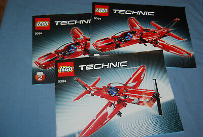 Genuine LEGO Technic Instruction Manuals 9394 Jet Plane + Alternate No Bricks