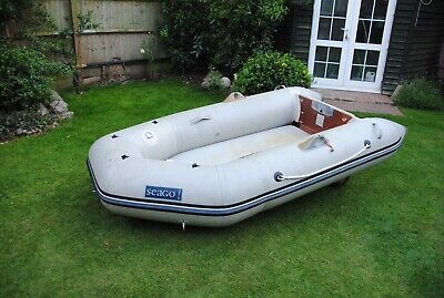 Seago Inflatable Dinghy/tender Air Deck 270 with folding launch wheels