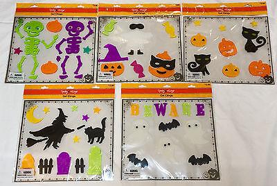 Halloween themed reuseable window gel clings - you pick - new in sealed - Window Gel Clings Halloween