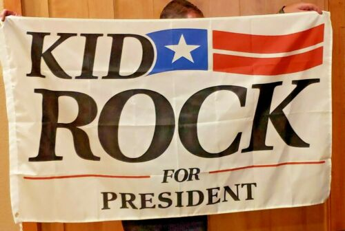Kid Rock for US President Senate 20 flag rock&roll banner man cave 3x5ft RV Boat