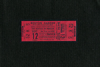 The Beatles 1964 Concert Ticket Boston Garden, Boston, Mass September 12, 1964-2 on Rummage