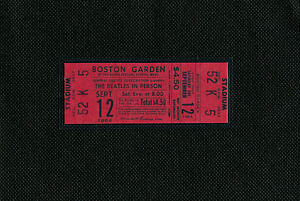 The Beatles 1964 Concert Ticket Boston Garden, Boston, Mass September 12, 1964-2