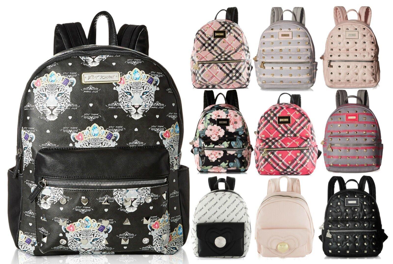 Betsey Johnson Kitsch Stud Medium Travel Luggage Backpack Pu