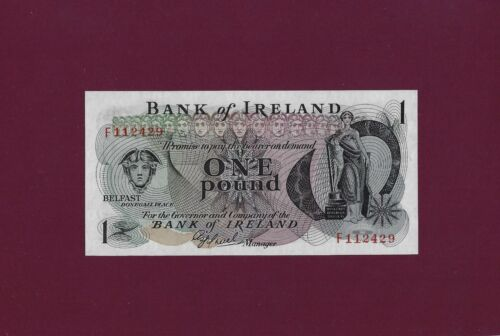 Northern Ireland Bank of Ireland 1 Pound  1972 - 1977  P- 61 UNC BANKNOTE