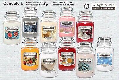 Yankee Candle Candele Grande (538gr) ,disponibili 10 fragranze, oggetto nuovo