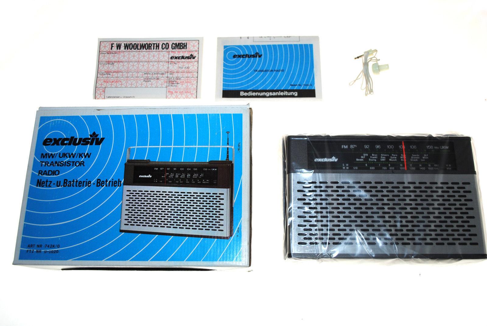 EXCLUSIV 742K/0 Transistorradio Radiogerät Rundfunkempfänger unbenutzt!