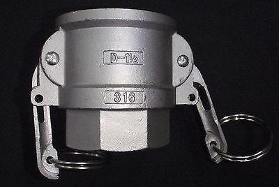 Stainless Steel Cam Lock Adapter 1 12female -1 12 Npt Female Nipple Cl13-150