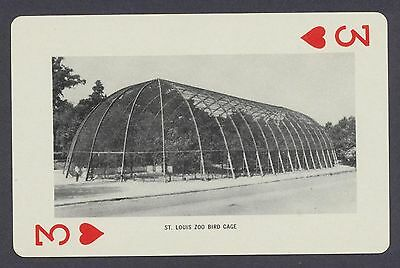 St. Louis Zoo Bird Cage Missouri playing card single three of hearts - 1 card