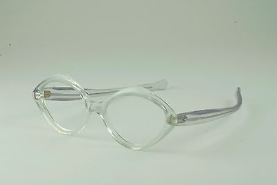 05520ed7d0 TRUE VINTAGE CLEAR OPAQUE EYEGLASS FRAMES NOS DEADSTOCK SLEEK CLASSIC