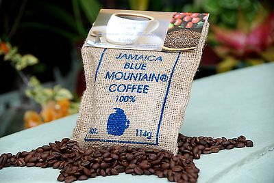 WALLENFORD Wealth 100% JAMAICA BLUE MOUNTAIN COFFEE 4oz X 4 Bags whole Beans