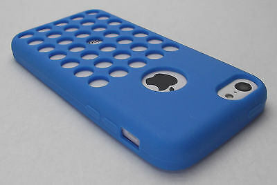 Apple Iphone 5 Shell (Blue Apple iPhone 5c Soft Rubber Gel Case Cover Skin Shell iPhone5c i phone New)
