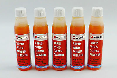 Wurth Rapid Windscreen Cleaner 32ml Concentrate, 5 Pack Screen Wash, Scented