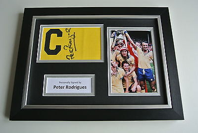 Peter Rodrigues SIGNED FRAMED Captains Armband & Photo A4 Display Southampton
