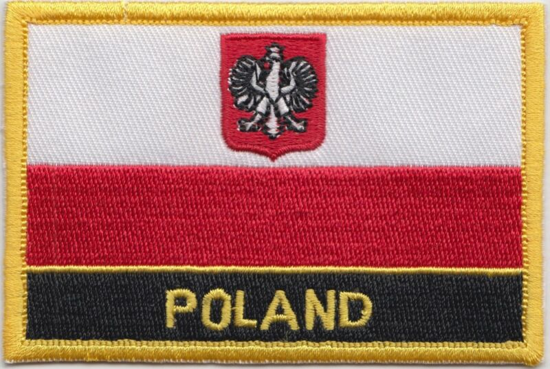 Poland Eagle Flag Embroidered Patch - Sew or Iron on