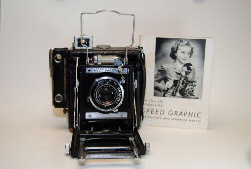 Graflex Speed Graphic camera with Graflex Optar f4.5 101 mm lens