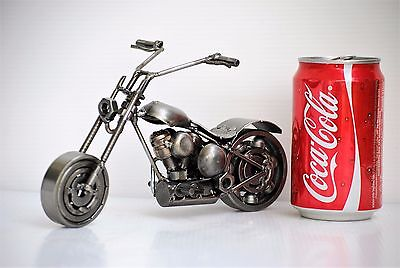 Chopper (E)  Motorcycle Scrap Metal Sculpture Handmade Gift Recycled Art for sale  Shipping to United States