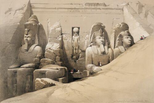 "David Roberts : ""Great Temple of Abu Simbel"" (1842-1849) — Giclee Fine Art Print"