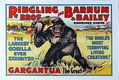 Ringling Bros. Barnum & Bailey Guargantua Circus Poster Greatest Show on Earth